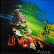 Fine art  - Kathakali 1 by ArtistSatish Nair