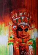 Fine art  - Theyam 1 by ArtistSatish Nair