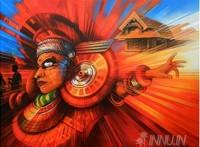 Fine art  - Theyam 2 by ArtistSatish Nair