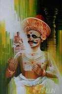 Fine art  - Chakyar Koothu by ArtistSatish Nair