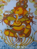 Fine art  - Ganapathi by Artist Ajesh K.K