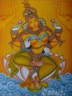Fine art  - Lakshmi by Artist Ajesh K.K