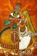 Fine art  - Kathakali by Artist Ajesh K.K