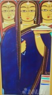Fine art  - Bride and two Companions by Artist Jamini Roy