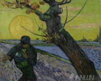 Fine art  - The Sower by Artist Vincent Van Gogh