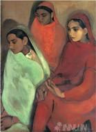 Fine art  - Three Girlsby ArtistAmrita Sher-Gil
