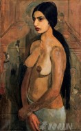 Fine art  - Self Portrait as a Tahitian by Artist Amrita Sher-Gil