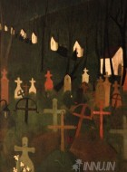 Fine art  - The Merry Cemetery by Artist Amrita Sher-Gil