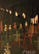 Fine art  - The Merry Cemeteryby ArtistAmrita Sher-Gil