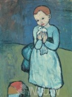 Fine art  - Child with a Dove by ArtistPablo Picasso