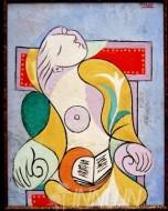 Fine art  - La Lecture by ArtistPablo Picasso
