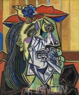 Fine art  - The Weeping Woman by ArtistPablo Picasso