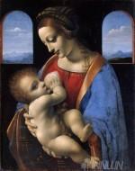 Fine art  - Madonna Litta by ArtistLeonardo da Vinci