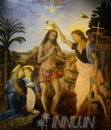 Fine art  - The Baptism of Christ by ArtistLeonardo da Vinci