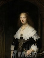 Fine art  - Portrait of Maria Trip by Artist Rembrandt