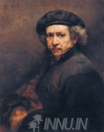 Fine art  - Self-Portrait with Beret and Turned-Up Collarby ArtistRembrandt