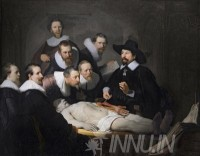 Fine art  - The Anatomy Lesson of Dr. Nicolaes Tulp by Artist Rembrandt