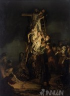 Fine art  - The Descent from the Cross by Artist Rembrandt