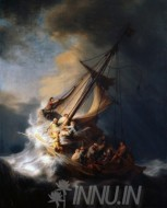 Fine art  - The Storm on the Sea of Galilee by Artist Rembrandt