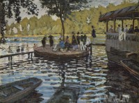 Fine art  - Bain à la Grenouillèreby ArtistClaude Monet