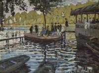Fine art  - Bain à la Grenouillère by ArtistClaude Monet