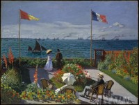 Fine art  - Garden at Sainte-Adresse by Artist Claude Monet