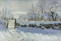 Fine art  - The Magpie  by Artist Claude Monet
