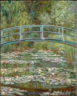 Fine art  - The Water Lily Pond by Artist Claude Monet