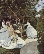 Fine art  - Women in the Garden by Artist Claude Monet