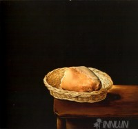 Fine art  - Basket of Bread  by Artist Salvador Dali
