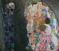 Fine art  - Death and Life by Artist Gustav Klimt