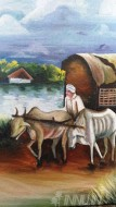 Fine art  - An Old Memory of a Soceity by Artist Anil Demiyanose