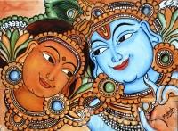 Fine art  - KrishnaRadhaby ArtistMukesh. M