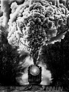 Fine art  - Vintage Train by Artist Ratheesh R