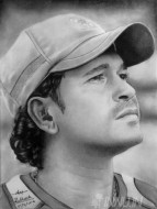 Fine art  - Sachin Tendulkar Pencil Sketch by Artist Ratheesh R