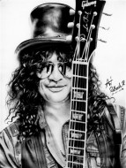 Fine art  - Slash Pencil Sketch by Artist Ratheesh R