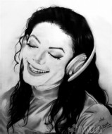 Fine art  - Michael Jackson pencil sketch by Artist Ratheesh R
