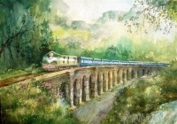 Fine art  - Punalur Journey by Artist Shankar Babu