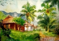 Fine art  - Morning Walk by Artist Shankar Babu