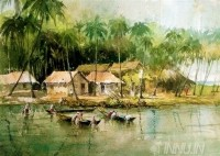 Fine art  - Fishing Time by Artist Shankar Babu