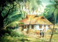 Fine art  - Cottage Days by Artist Shankar Babu