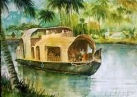 Fine art  - Backwater Rideby ArtistShankar Babu
