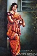 Fine art  - Lady with a potby ArtistHari Kumar