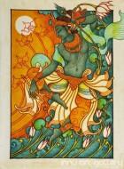 Fine art  - Dancing Krishnaby ArtistSreeraj