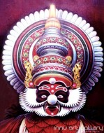 Fine art  - Dhussasanan Kathakali Faceby ArtistHari Kumar