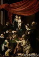 Fine art  - Madonna of the Rosary by Artist Caravaggio