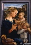 Fine art  - Madonna and Child with two Angels by Artist Filippo Lippi