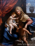 Fine art  - Madonna with Child and St. John the Baptist by Artist Guido Reni