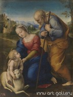 Fine art  - The Holy Family with a Lamb (Family of Jesus) by Artist Raphael