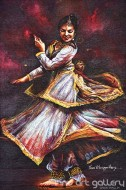 Fine art  - Kathak Dancer by Artist Hari Kumar